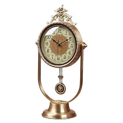Yuany Reloj de Escritorio Relojes Familiares Mudo del hogar ...
