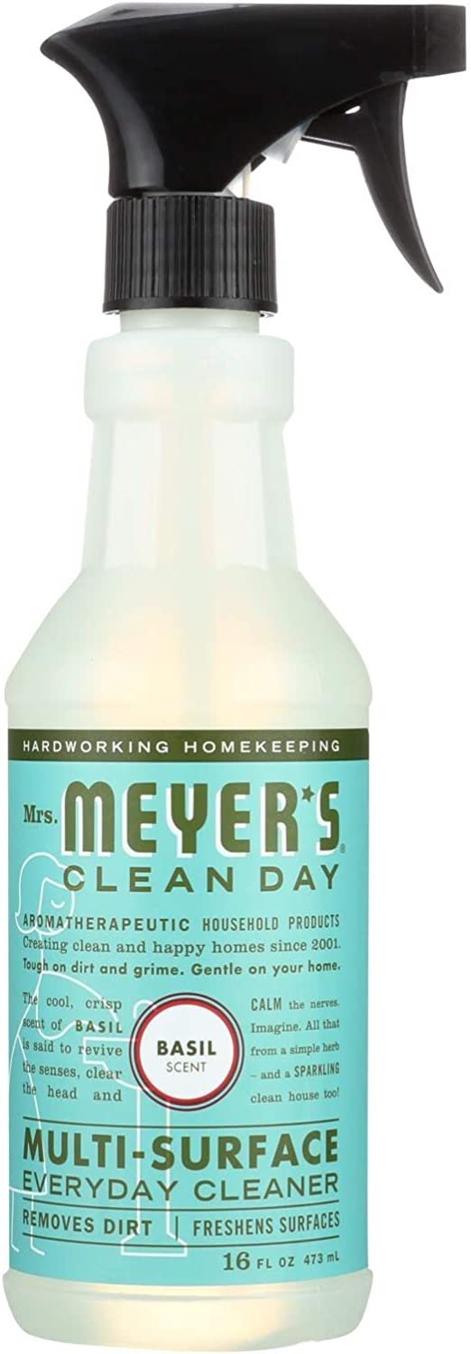Mrs Meyers Clean Day Multi-Surface Everyday Cleaner, Basil 16 oz (Pack of 6)