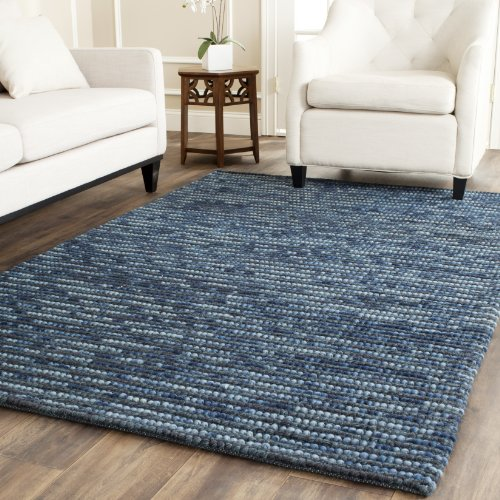 Safavieh Bohemian Collection BOH525G Hand-Knotted Dark Blue and Multi Jute Area Rug (8' x 10')