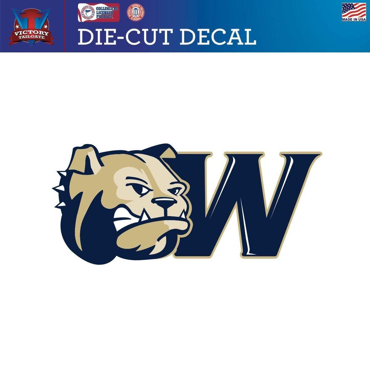 Victory Tailgate Wingate University Bulldogs Die-Cut Vinyl Decal Logo 2