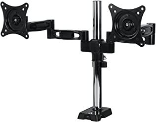 ARCTIC Z2 - Dual Monitor Arm with 4-Port USB Hub for 13 - 27 Inch I Up to 10kg weight capacity I 360 degree rotation I Easy Monitor adjustment - Black