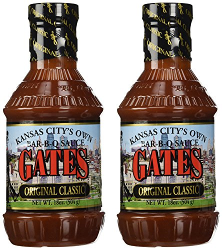 Gate Professional - Gates Original Classic Bar-B-Q Sauce, 18 Ounce Bottle (Pack of 2), Kansas City Style Barbecue Sauce