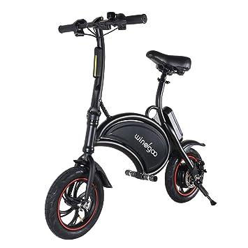 Windgoo Scooter eléctrico de 12 Pulgadas y 36 V de Bicicleta eléctrica Plegable con batería de Litio de 6.0 Ah, Velocidad máxima de Bicicleta de ...