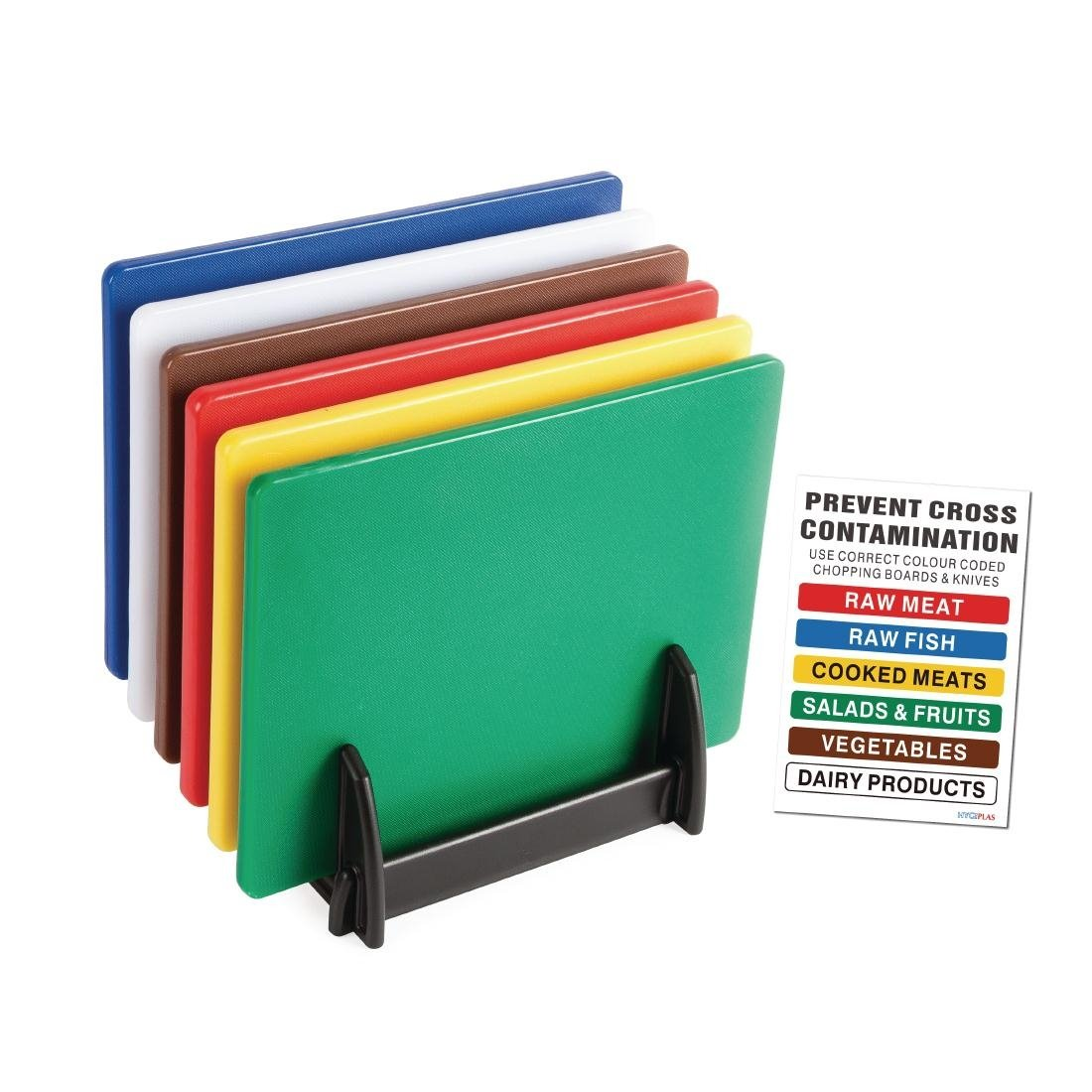 The item for sale is premier set of 5 coloured flexible chopping - 6x Hygiplas Standard Low Density Chopping Board Colour Coded Set Kitchen
