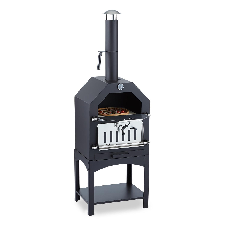 Klarstein Pizzaiolo • Horno para pizza • Parrilla • Ahumador • Asar • Hornear • Termómetro • Piedra de hornear • Apertura ventilación • Ventilador • Bandeja ...