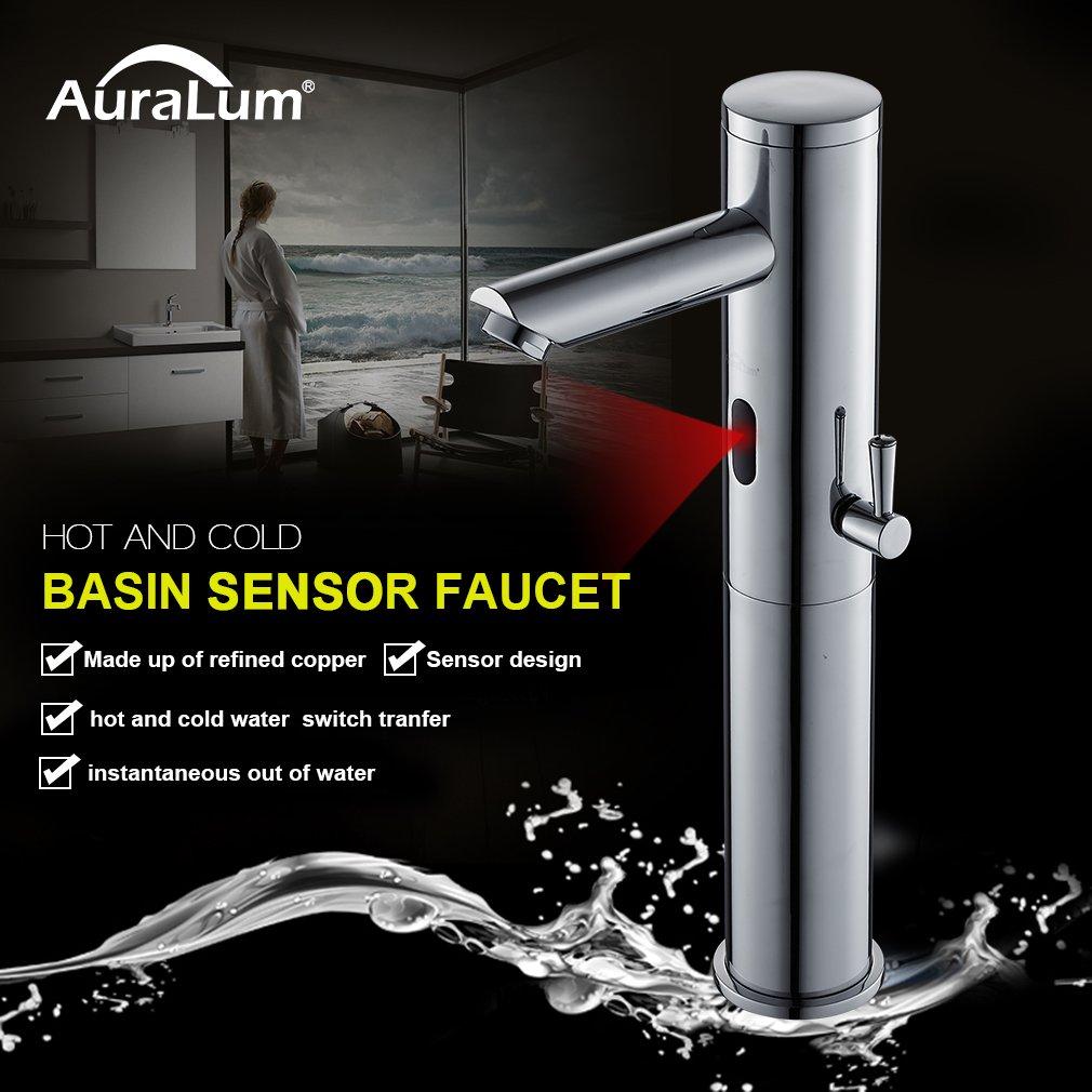 Auralum® Sensor Automático Grifo de Lavabo Fría Y Caliente Mezclador de Grifo Diseño único 3 Años Garantía: Amazon.es: Bricolaje y herramientas