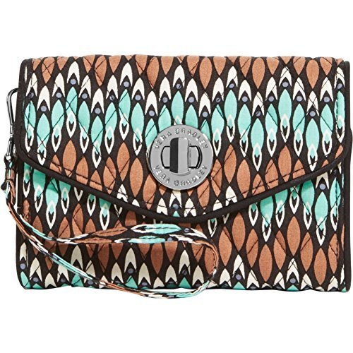 Vera Bradley Womens Your Turn Smartphone Wristlet Rosewood Clutch