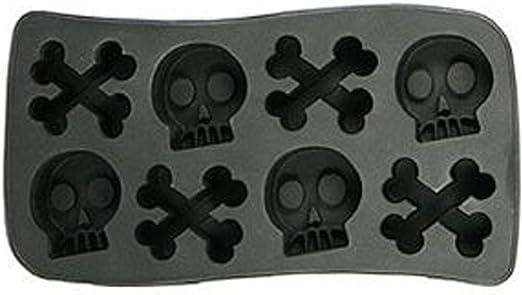 Gothic Novelty SKULL CROSSBONES ICE CUBE TRAY Jello Mold Pirate Birthday Party