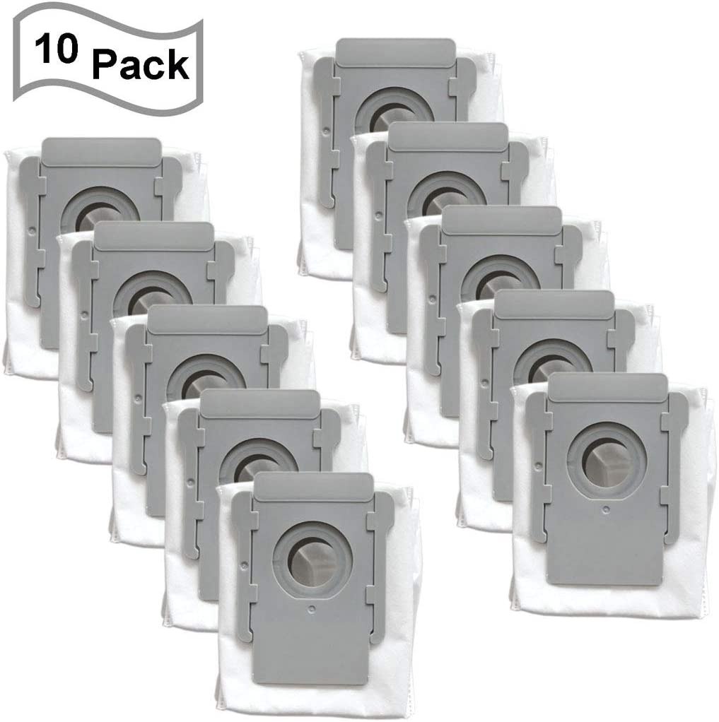 FATATP 10 Pack Vacuum Bags for iRobot Roomba i & s Series i7(7150) i7+ i7Plus(7550) s9(9150) s9+ s9 Plus (9550, 955020) Robot Vacuum Cleaner with Clean Base Automatic Dirt Disposal Bags