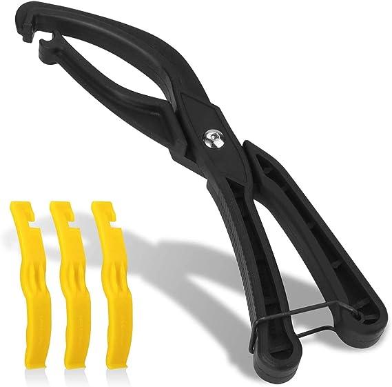 Tagvo Bike Tire Installieren Sie Arbeitssparende Werkzeuge Mit 3 Fahrradreifenhebeln Reifenreparaturwerkzeuge Fahrradreparaturwerkzeug Mit Rutschfestem Griff Für Rennrad Mountainbikes Sport Freizeit