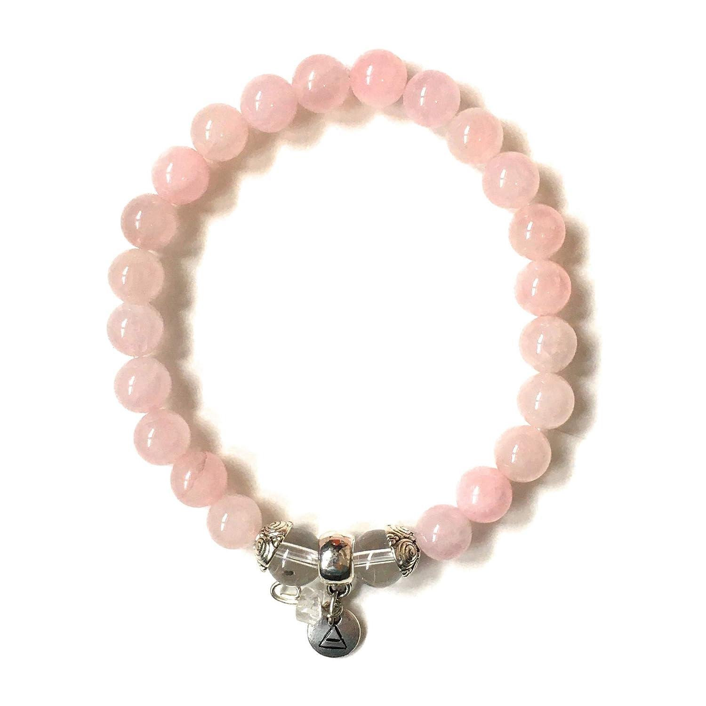 Genuine rose quartz bracelet  Powerful love crystal