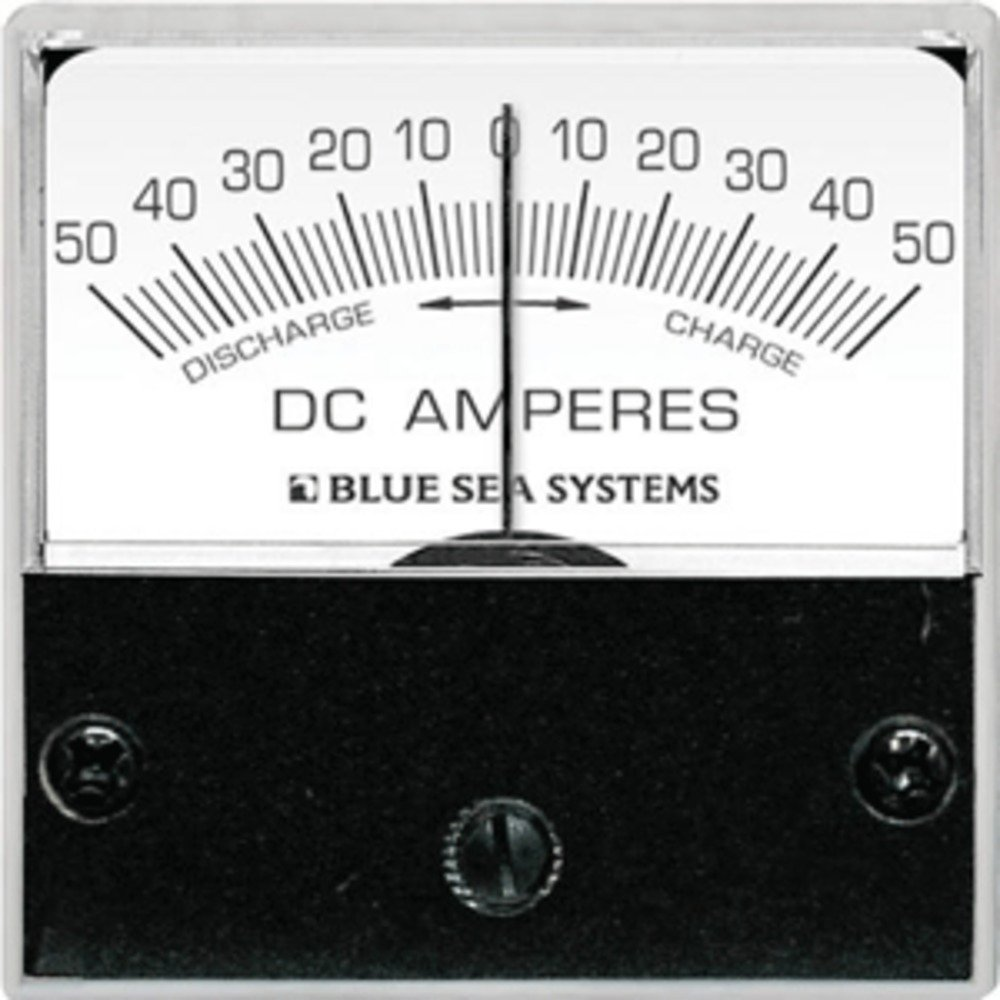 Amazon.com: Blue Sea 8254 DC Zero Center Micro Ammeter - 2 Face, 50-0-50 Amperes DC Marine , Boating Equipment: Car Electronics