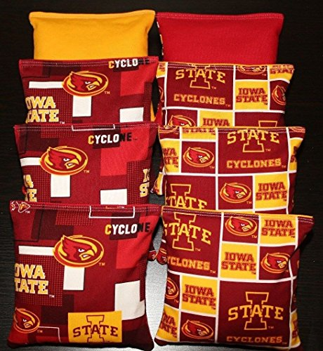 Iowa State Cyclones Game - BackYardGamesUSA Iowa State University Cornhole Bean Bags 8 ACA Regulation ISU Cyclones Toss Bags