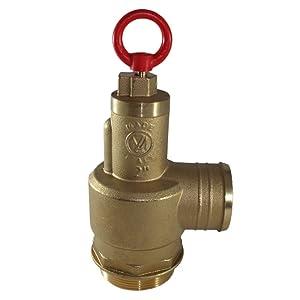 "Brass Pressure Relief Valve, 300 CFM, 2"" Diameter, Fully Adjustable, Non-Code (1050-0000 MZ)"