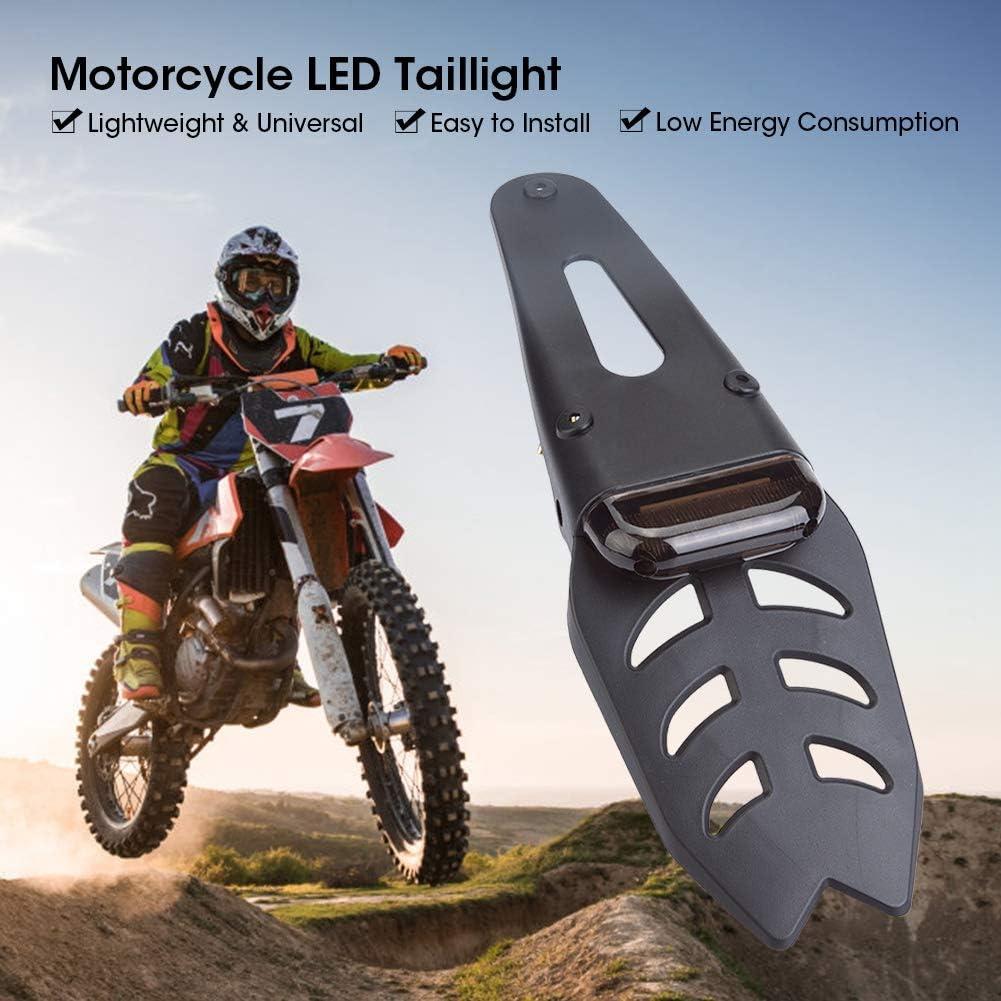 luci posteriori per fanali posteriori a LED per parafango EBTOOLS Fanale posteriore per moto a LED targa per fuoristrada 13,4 x 3,9 x 1,6 pollici Nero