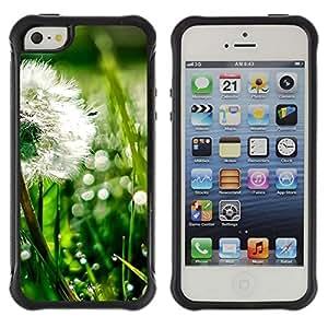 Suave TPU Caso Carcasa de Caucho Funda para Apple Iphone 5 / 5S / Plant Nature Forrest Flower 43 / STRONG