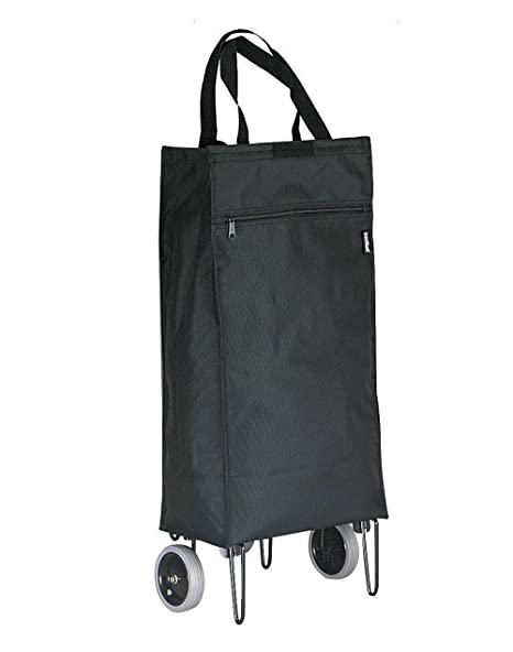 7910acce8a Amazon.com  Preferred Nation 1160A Shopping Cart Travel Totes One Size  Black  Handbags  Kitchen   Dining
