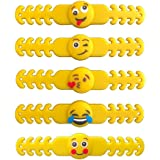"SmartBuy 5 PCs Emoji Ear Saver for Kids | Mask Extender Specially Made for Children | 4"" 10 CM Long Reusable Soft…"
