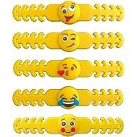 "SmartBuy 5 PCs Emoji Ear Saver for Kids | Mask Extender Specially Made for Children | 4"" 10 CM Long Reusable Soft…"