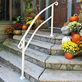 InstantRail 5-Step Adjustable Handrail (White for Concrete Steps)