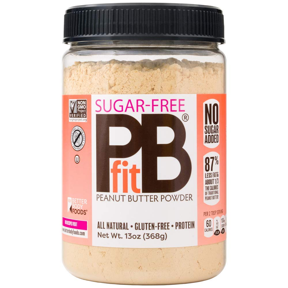 PBfit All-Natural Peanut Butter Powder, Sugar-Free Powdered Peanut Spread from Real Roasted Pressed Peanuts, 8g of Protein (13 oz.)