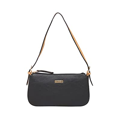 ESBEDA Black Beige Color Solid Pu Synthetic Material Hand Bag For Women   Amazon.in  Shoes   Handbags 14081c8dec