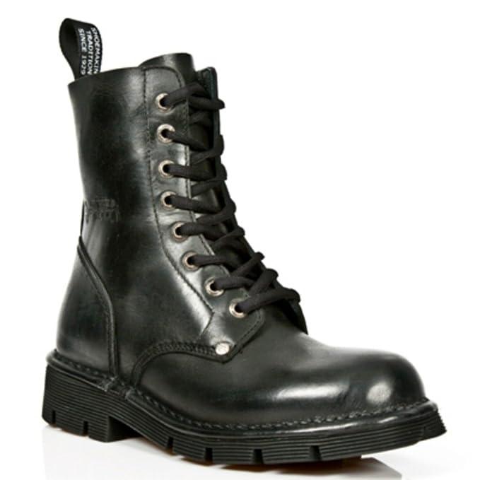 a9727bf9253 New Rock - Botas de cuero para mujer negro negro  Amazon.es  Zapatos y  complementos