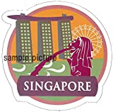 "Travel Sticker ""SINGAPORE"" Made of Waterproof Paper (JAPAN import)"