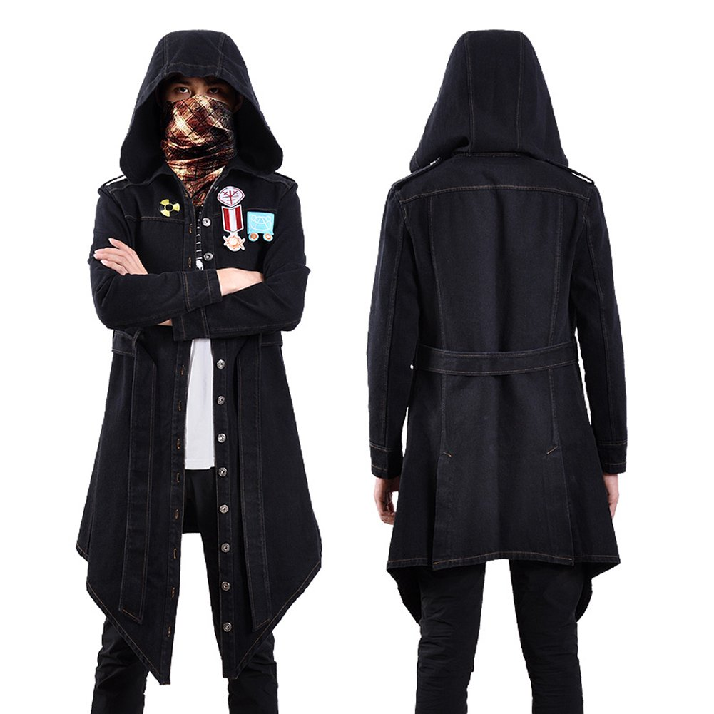 TISEA PUBG Mens Wind Coat Jacket and Cosplay Costume Accessories (US L=Asian XL, Wind Coat) by TISEA