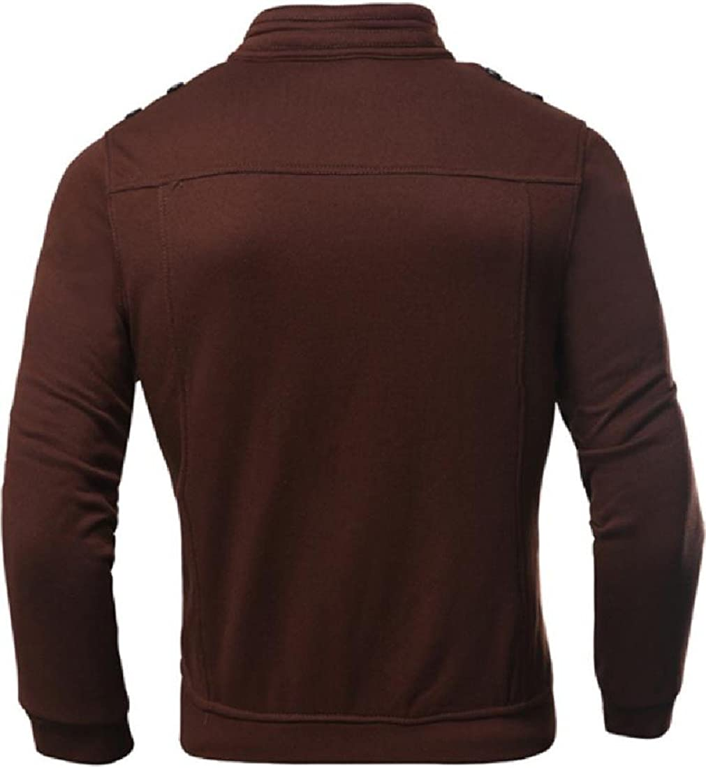 Winwinus Men Cardigan Fashion Casual Zip Up Sweatshirt Sweatshirt