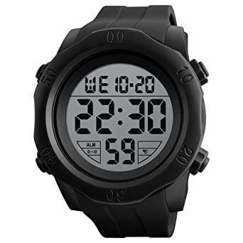 Men's Watches Digital Watches Humorous Skmei Fashion Multifunction Digital Watch Waterproof Outdoor Sports Watches Men Compass Countdown Alarm Led Wristwatches 100% High Quality Materials