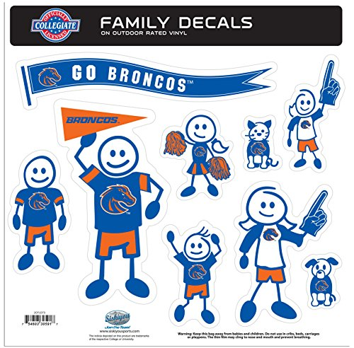 NCAA Boise State Broncos Family Character Decals, (Broncos Family Decal)