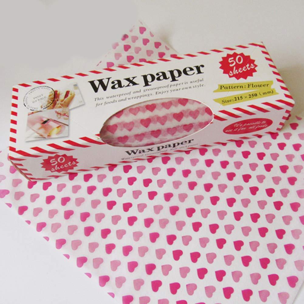 50 envoltorios de papel encerado impermeables y a prueba de aceite, para envolver panes y pasteles, antiadherentes Tamaño libre 1#: Amazon.es: Hogar