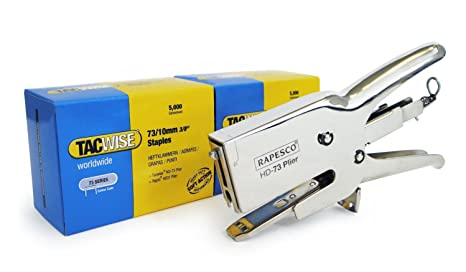 Tacwise 1213 Grapadora Tipo alicate con Dos Cajas de Grapas Serie 73 x 10 mm (