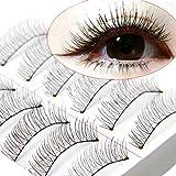 10 Pairs Soft Natural Cross Handmade Eye Lashes Makeup Extension False Eyelashes