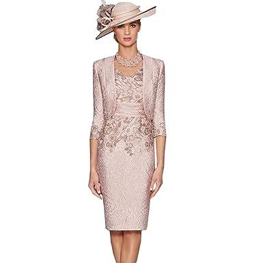 dressvip 2017 Rosa V-Ausschnitt knielangen Satin Prom Kleider mit 3 ...