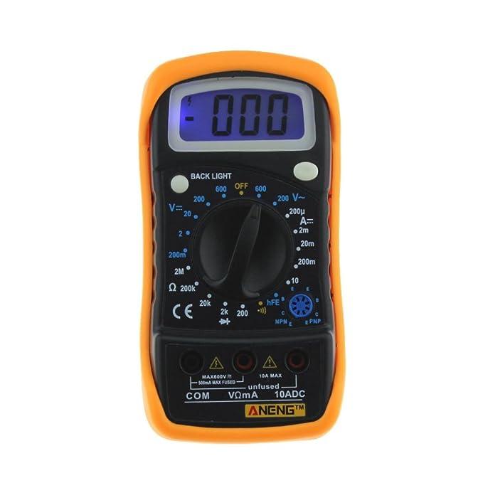 LtrottedJ amperímetro digital de voltímetro, multímetro de ohmio ...