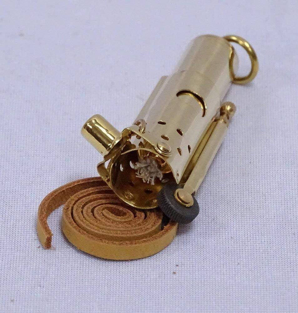 Antique fran/çais Briquet de temp/ête r/étro ESSENCE BRIQUET LAITON