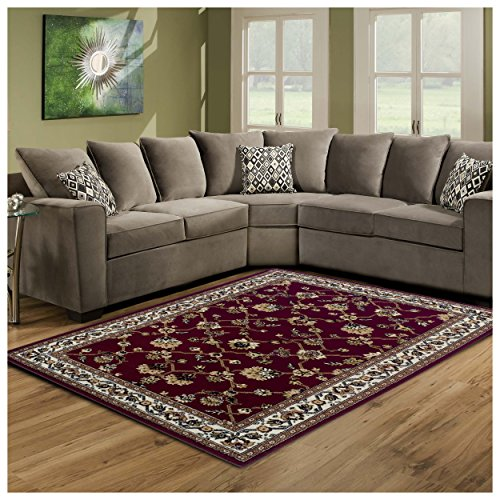 Cheap  Superior Elegant Kingfield Collection Area Rug, 8mm Pile Height with Jute Backing,..