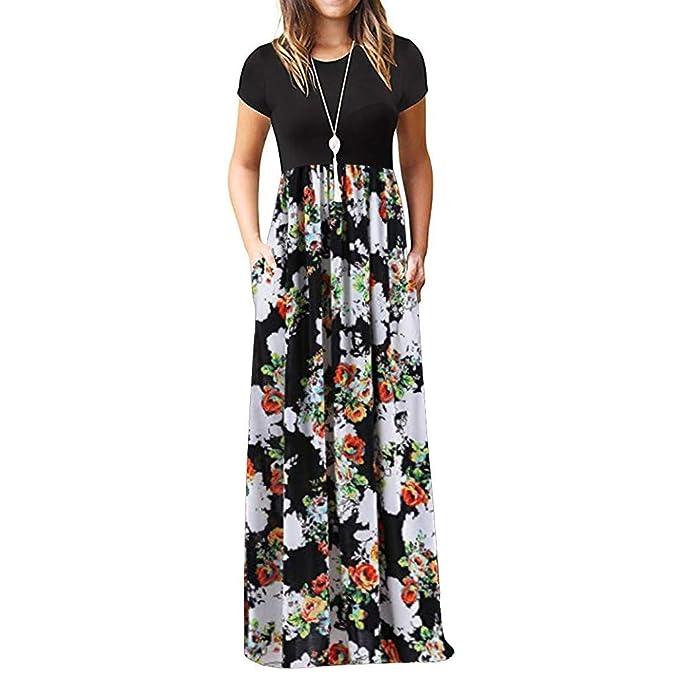 a1d426b4bc Amazon.com: Dresses,MILIMIEYIK Womens Long Flowy Sexy Sleeveless ...