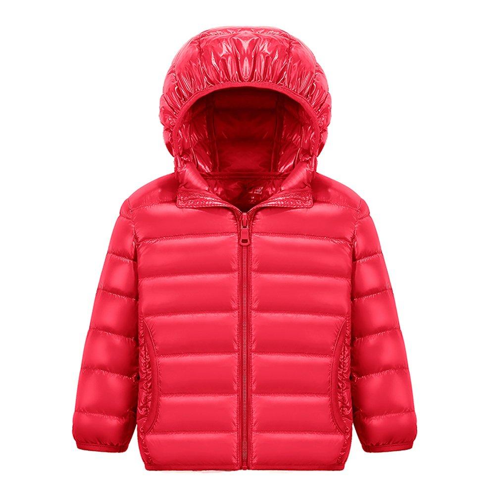 MH-Lucky Unisex Little Boys Girls Clothes Down Jacket Hoodie Lightweight Coat Winter Warm Outerwear