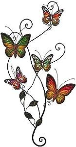 Bellaa 20186 Metal Wall Decor Butterfly Sculpture 29 x15 inch (Multi 1, Large)
