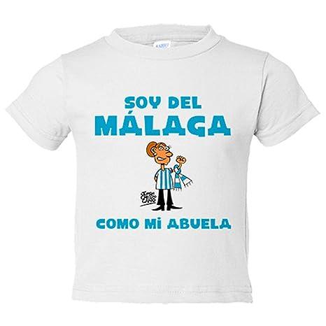Camiseta niño soy del Málaga como mi abuela Jorge Crespo Cano - Blanco, 3-