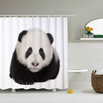 Image Unavailable Not Available For Color Creative Cute Panda And Polar Bear Shower Curtain