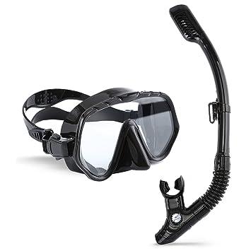 Máscara de Buceo con Tubo, ARAER Snorkel Máscara Gafas de Buceo de Silicona con Visión