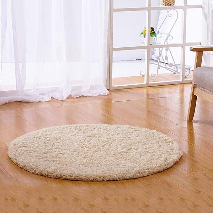 Home rugs Alfombra de Dormitorio Súper Suave Circular Moderna Sala De Alfombras Shaggy Decorativas Alfombras de Juego de Baño (Color : Camello, Tamaño : 100cm): Amazon.es: Hogar