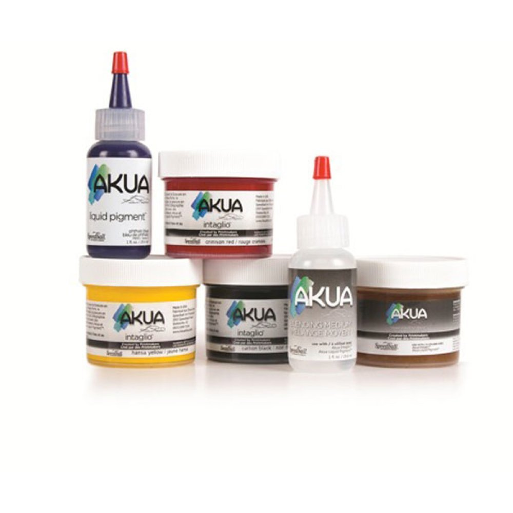 Akua Starter Set, Assorted Essential Tools for Print Making (8209) by Akua
