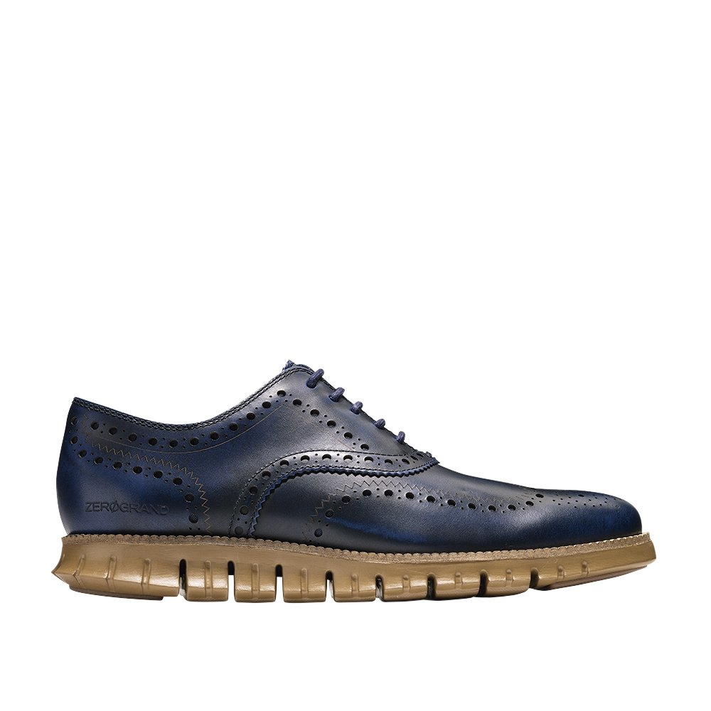 Cole Haan Men's Zerogrand Wing Leather, Peacoat/Rubber, 10 Wide US by Cole Haan (Image #1)