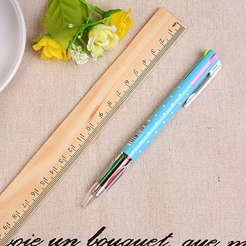 3 pcs/Lot 4 color in 1 ballpoint pen Multi refill Click ball pens Stationery Office accessories school by Office & School Supplies YingYing (Image #3)