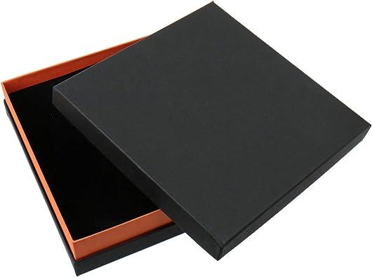 Schmuckboerse24 cartón Joyas Estuches para joyería. Caja para Collares Colliers Pendientes Joyas Joyas Sets Negro Naranja 16,5 x 16,5 x 4 cm: Amazon.es: Joyería